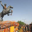 dogra rajput battalion honoring General Zorawar Singh's statue at special remembrance ceremony