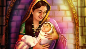 baby shivaji with jijabai by Shilpa Bhoir